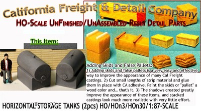 Horizontal Storage Tanks on Concrete Base (2pcs) Scale Model Masterpieces HO/1:87 *NEW*