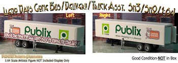 "PUBLIX DANISH BAKERY ""TAGGED"" GRAFFITI CUSTOM BOX DELIVERY TRAILER-AHL1:64/Sn3"