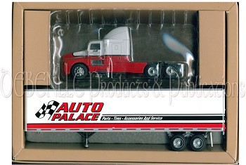 auto palace kenworth tractor trailer 45foot pem tonkin hartoy 1 64 nib. Black Bedroom Furniture Sets. Home Design Ideas