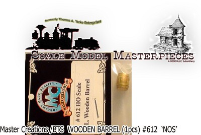 LARGE WOODEN BARREL (1pc-BRASS) Master Creations/FSM HO/HOn3/HOn30
