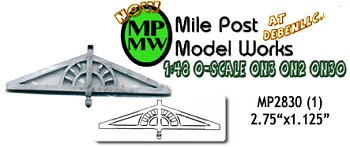 Victorian Eave Bracket (1pc) MilePost Models O/On3/On30 1:48-Scale