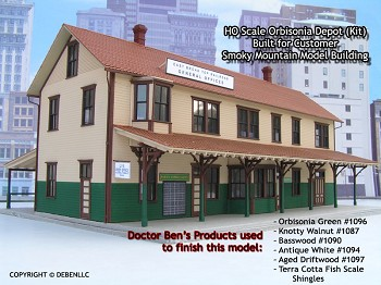 Orbisonia Depot-East Broad Top Railroad Built HO/HOn3 Scale