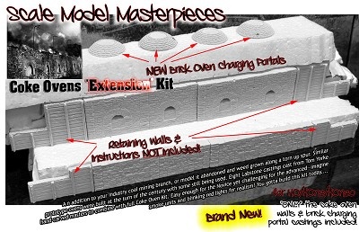 "COKE OVENS ""Extension"" KIT Scale Model Masterpieces/YORKE/fsm HO/HOn2/HOn30"
