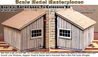 Board n' Batten Lean-To Extension Kit Thomas Yorke/SMM On3/On30 *New Release*