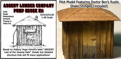 ARGENT LUMBER Co PUMP HOUSE KIT YORKE/SMM O/On3/On30 1:48/1:43 *NEW*