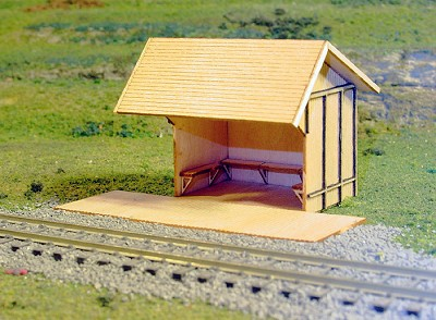 Passenger Shelter/Station Wood LASER Kit-HO/HOn3 FSM/Sequoia
