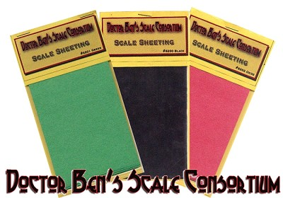 Scale Tarpaper Sheeting Material-Multi Scale & Colors Doctor Ben's Scale Consortium