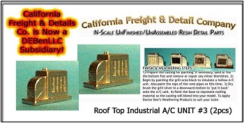 Roof Top Industrial A/C UNIT #3 (2pcs)  N/Nn3/1:160-Scale California Freight & Details Co