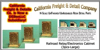 Railroad Relay/Electronics Cabinets-Large (3pcs) California Freight & Details Co. N/Nn3/1;160