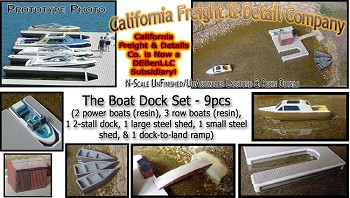 The Boat Dock Set (1 Kit) N/Nn3 California Freight & Details Co.