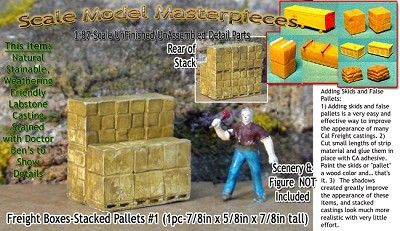 Freight Boxes-Stacked Pallets #1 (1pc) HO/HOn3/HOn30-Scale Model Masterpieces