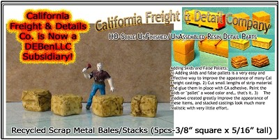 Recycled Scrap Metal Bales/Stacks (5pcs) HO/HOn3/HOn30-Scale Model Masterpieces