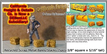 Recycled Scrap Metal Bales/Stacks (5pcs) Scale Model Masterpieces/YORKE 1;48/On3