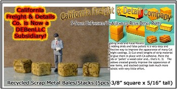 Recycled Scrap Metal Bales/Stacks Scale Model Masterpieces S/Sn2/Sn3/Sn42-1:64