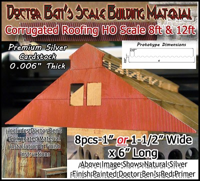 HO Corrugated Material Roofing/Siding- Doctor Ben's Scale Consortium