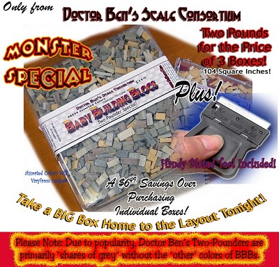Baby Building Blocs Split Granite-Two Pounder Special Doctor Ben's Scale Consortium