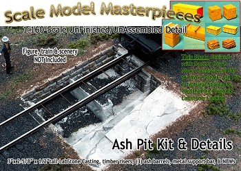 Ash Pit & Details Kit for Enginehouse/Roundhouse Scale Model Masterpieces N/NN3 *NEW*
