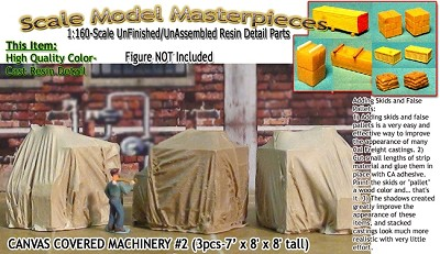 CANVAS COVERED MACHINERY #2 (3pc) Scale Model Masterpieces-N/NN3