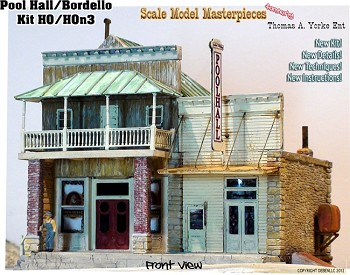 "Bordello & Pool Hall ""Updated Roof Material"" Scale Model Masterpieces HO/1:87"