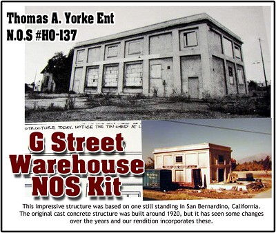 "G-Street Warehouse ""New Old Stock"" Kit Yorke/Scale Model Masterpieces 1:87/HO"
