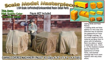 Canvas Covered Machinery #2 (3pc) Scale Model Masterpieces Sn3/Sn2/1:64