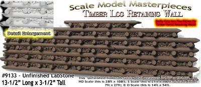 Log Timber Retaining Wall Scale Model Masterpieces Multi Scale S/On30 (LabStone)