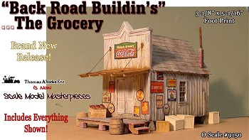 """Back Road Buildin's"" The Grocery ""Built-up Scale Model Masterpieces/Thomas Yorke O/ON3/ON30"