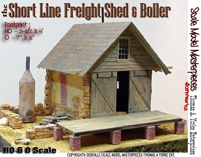 the Short Line Freight Shed & Boiler Kit Scale Model Masterpieces/Thomas Yorke On3/On30/1;48
