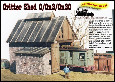 CRITTER SHED Kit Thomas Yorke/Scale Model Masterpieces O/On3/On30