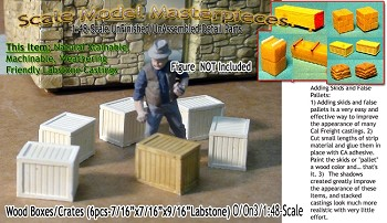 Wood Crates/Boxes (6pcs-LabStone) Scale Model Masterpieces/Yorke On30.1;48