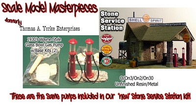 1929 Wayne Style Gas Pump (2Kits) Scale Model Masterpieces O/On3/On2/On30 *NEW*