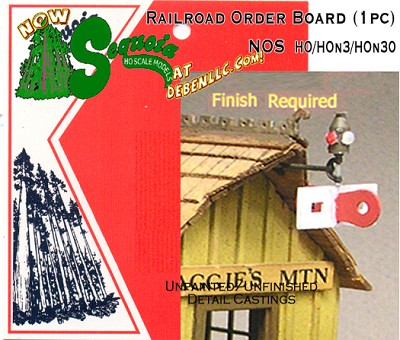 Railroad Order Board (1pc-Assembled) HOn3/HOn30 Sequoia Models