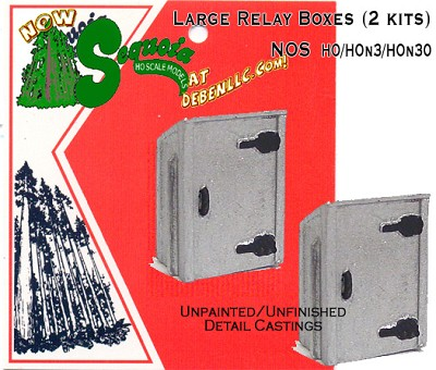 Large Relay Boxes (2 kits) HOn3/HOn30 Sequoia Models