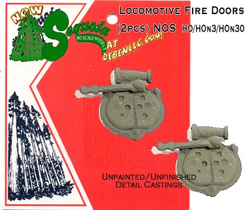 "Steam Locomotive Firebox Door (2kits-7/16""dia/Metal) HOn3/HOn30 Sequoia Models"