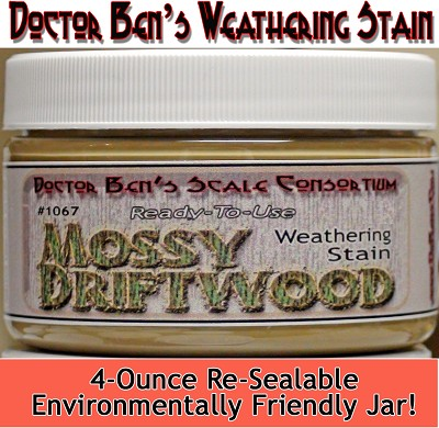 Mossy Driftwood Weathering Stain-4oz Doctor Ben's Scale Consortium