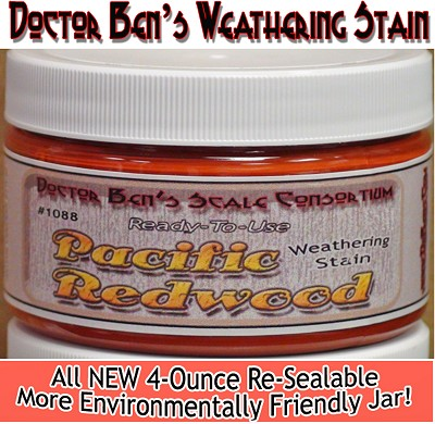 Pacific Redwood Weathering Stain-4oz Doctor Ben's Scale Consortium