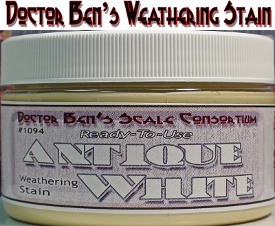 Antique White Weathering Stain-4oz Doctor Ben's Scale Consortium
