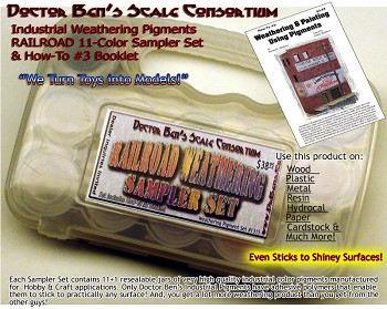 11-Color Railroad Weathering Pigment Sampler Set & Booklet-Doctor Ben's Scale Consortium-Multi Scale