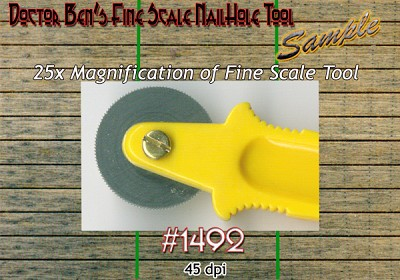 Fine Scale Nail Hole Tool Doctor Ben's Scale Consortium HO/HOn3/HOn2/HOn30/1;87