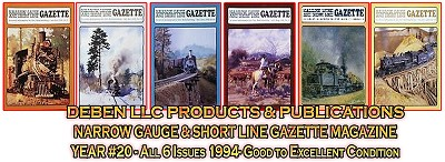 1994 Narrow Gauge & Short Line Gazette Magazine-Individual Issues
