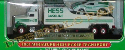 HESS 2001 MINIATURE RACER TRANSPORT~1/87 SCALE UNOPENED MIB!