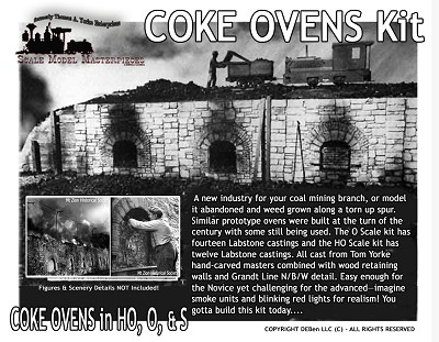 COKE OVENS KIT Scale Model Masterpieces/YORKE S/Sn3/Sn2/Sn43/1:64 *BRAND NEW*