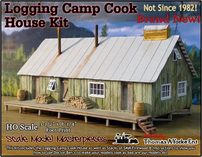 Logging Camp Cook House Kit Scale Model Masterpieces/Yorke Ent. HO/1:87