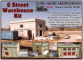 G-Street Warehouse Kit Yorke/Scale Model Masterpieces 1:87/HOn3/HOn30