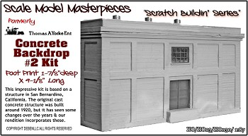 "Concrete Backdrop Kit #2 ""Scratch Buildin' Series"" Yorke/Scale Model Masterpieces 1:87/HO"