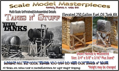 Elevated 250 Gallon Fuel Oil Tank (1kit) Scale Model Masterpieces HO/1:87
