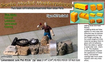 "Junk Pile #5536 (1pc-about 2-1/4"" x 3/4"") HO/HOn3/HOn30-Scale Model Masterpieces"