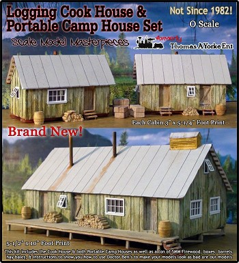 Logging Camp Cook House & Portable Cabin House Set Kit