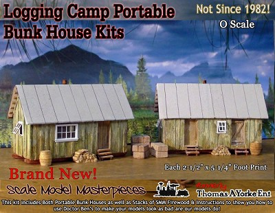Logging Camp Portable Bunk House Kit Scale Model Masterpieces/Thomas Yorke On3/On30/1;48