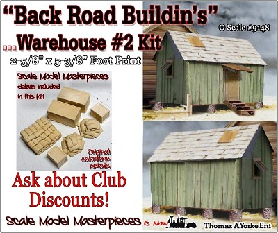 """Back Road Buildin's"" Warehouse #2 Kit Scale Model Masterpieces/Thomas Yorke O/ON3/ON30 *NEW*"